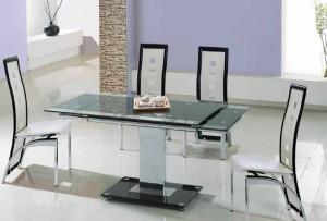 Розкладні скляні столи